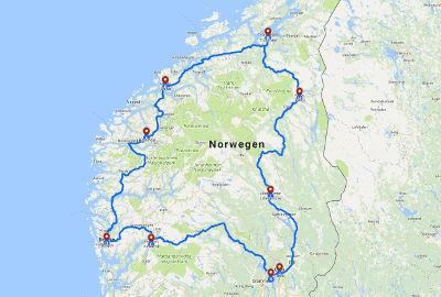 Karte Südnorwegen.Wohnmobil Routen Für Norwegen Die Schönsten Touren Rundreisen