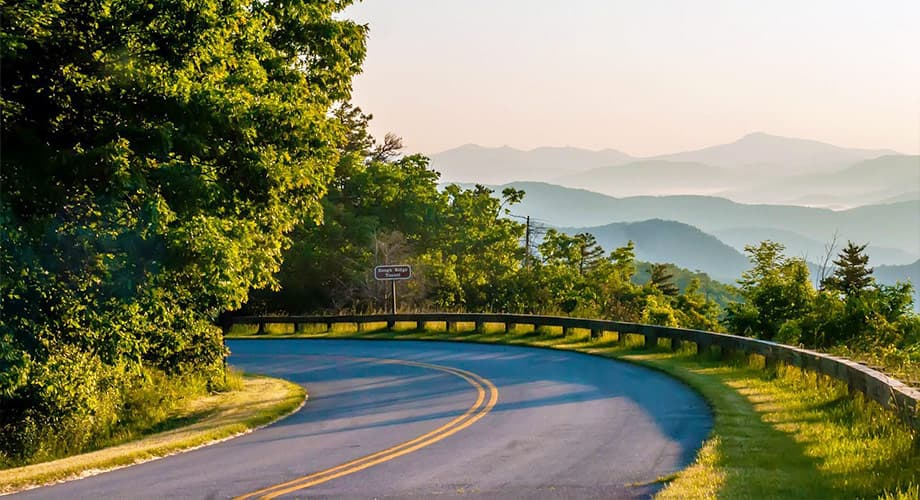 Der Blue Ridge Parkway in den Great Smoky Mountains